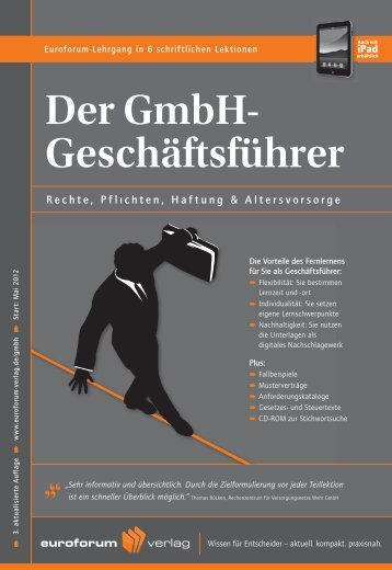 Der GmbH- Geschäftsführer