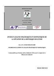 etude et analyse strategiques et geopolitiques de la situation de la ...