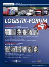 LOGISTIK-TAG 17. Mai 2011 TRANSPORT-TAG 18. Mai 2011