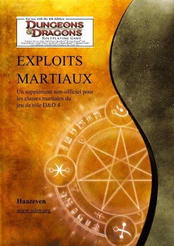 EXPLOITS MARTIAUX - Sden