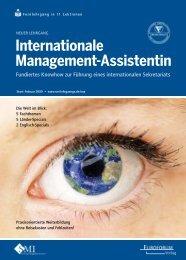 Internationale Management-Assistentin
