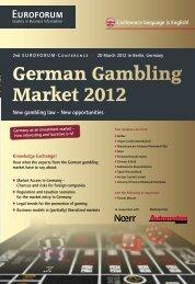 German Gambling Market 2012