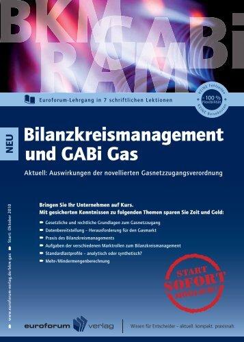 Bilanzkreismanagement und GABi Gas