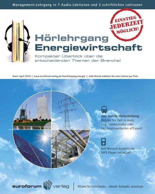 Hörlehrgang Energiewirtschaft