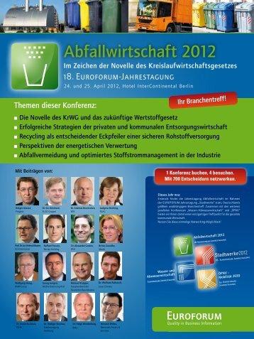 Abfallwirtschaft 2012