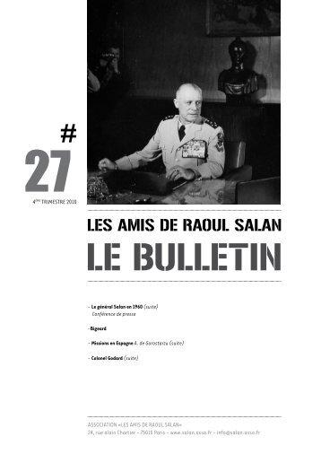 Bulletin 27 - Association des amis de Raoul Salan