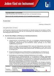 Newsletter 03/2011 Beteiligung an Arbeitskampfmaßnahmen