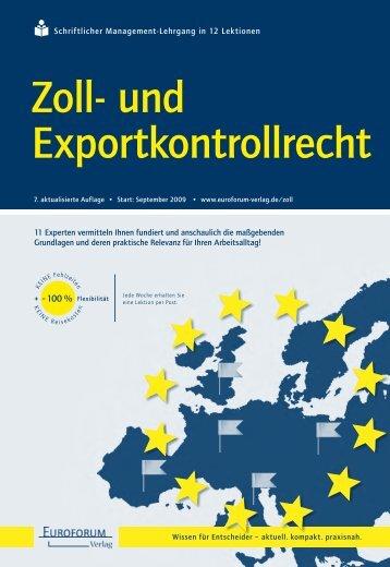 Zoll- und Exportkontrollrecht
