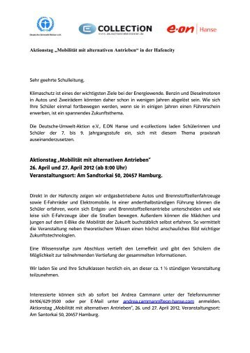 """Aktionstag """"Mobilität mit alternativen Antrieben"""" - Hamburger ..."""