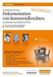 Dokumentation von Konsortialkrediten.