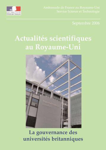 Actualités scientifiques au Royaume-Uni - France in the United ...