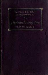 La diction française par les textes