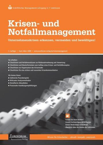 Krisen- und Notfallmanagement
