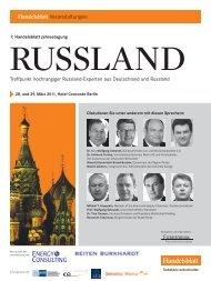 Treffpunkt hochrangiger Russland-Experten aus Deutschland und ...