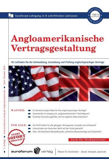 Angloamerikanische Vertragsgestaltung