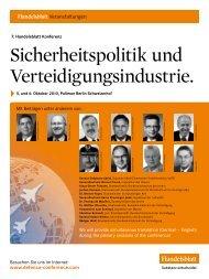 Sicherheitspolitik und Verteidigungsindustrie.