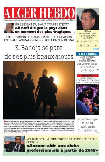 Télécharger le Format PDF - Alger Hebdo.com