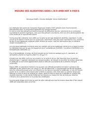 Mesure des aldehydes dans l'air ambiant à Paris (format PDF - 167 ...