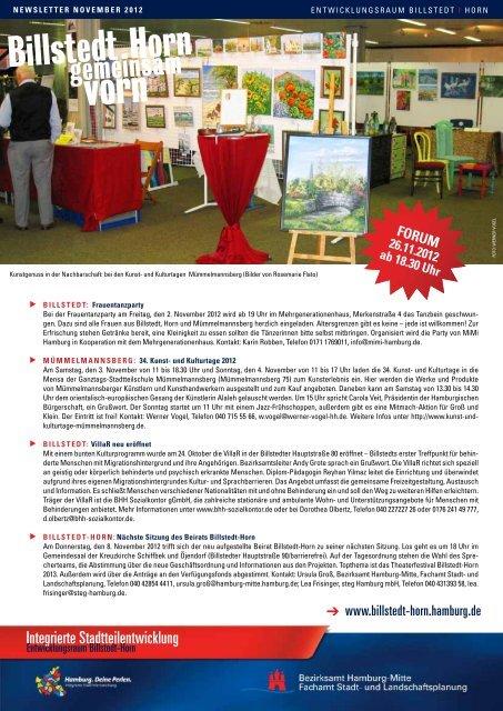 Newsletter Billstedt-Horn, November 2012 - Entwicklungsraum ...