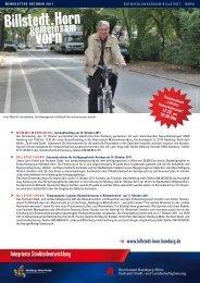 Newsletter Billstedt-Horn, Oktober 2011 - Entwicklungsraum Billstedt ...