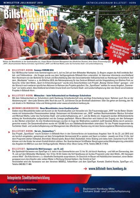 Newsletter Billstedt-Horn, Juli/August 2010 - Entwicklungsraum ...