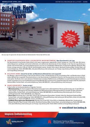 Newsletter Billstedt-Horn, April 2012 - Entwicklungsraum Billstedt ...