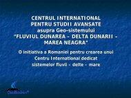 CENTRUL INTERNATIONAL PENTRU STUDII AVANSATE asupra ...