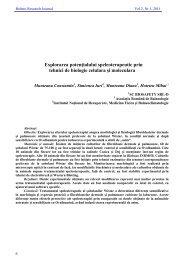 Explorarea potenţialului speleoterapeutic prin tehnici de biologie ...