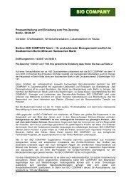 Pressemitteilung und Einladung zum Pre-Opening Berlin, 08.06.07 ...