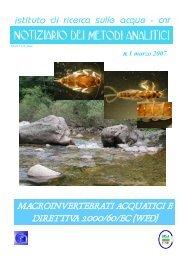 macroinvertebrati acquatici e direttiva 2000/60/ec (wfd) - IRSA