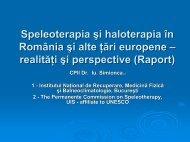 Speleoterapia şi haloterapia în România şi alte ţări europene ...