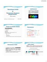 2010.03.04. 1 Fluoreszcencia kioltás és ... - Biofizikai Intézet