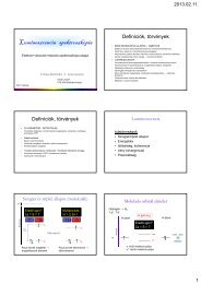 Lumineszcencia spektroszkópia - Biofizikai Intézet