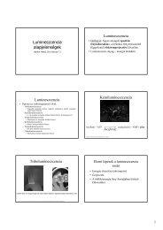 Lumineszcencia alapjelenségek