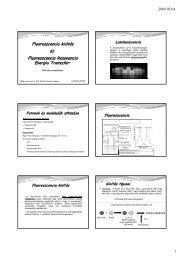 Fluoreszcencia kioltás és Fluoreszcencia ... - Biofizikai Intézet