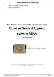 Rituel au Grade d'Apprenti selon le REAA - EzoOccult