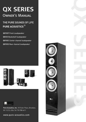 Manual - Pure Acoustics, Inc.