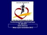 Cardiomyopathie hypertrophique - Club des Cardiologues du Sport