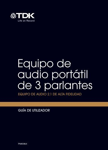Equipo de audio portátil de 3 parlantes - TDK