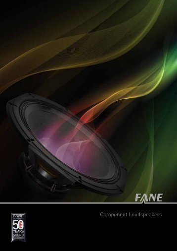 Component Loudspeakers - Fane