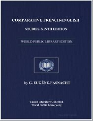 comparative french-english studies, ninth edition - World eBook ...