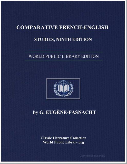 comparative french-english studies, ninth edition - World eBook ...