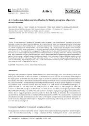 A revised nomenclature and classification for family-group taxa of ...