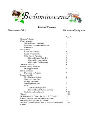 Vol 7 - Biology - University of Central Oklahoma
