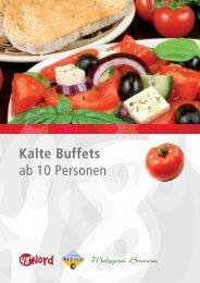 Kalte Buffets ab 10 Personen - 48 Grad Nord
