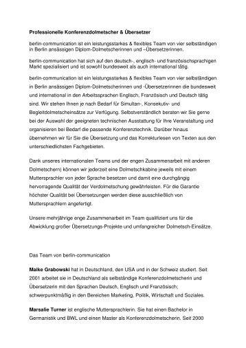 Professionelle Konferenzdolmetscher & Übersetzer berlin - 4-advice