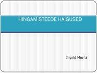 HINGAMISTEEDE HAIGUSED