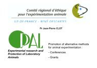 Promotion of alternative methods for animal experimentation ...