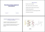 Secondary structure assignment and prediction - Bioinformatics and ...