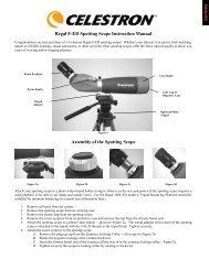 Regal F-ED Spotting Scope Instruction Manual ... - Celestron